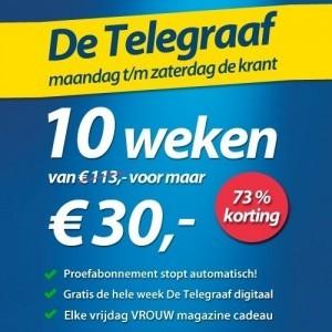 Telegraaf 10 weken 30 euro