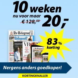 Telegraaf 10 weken 20 euro