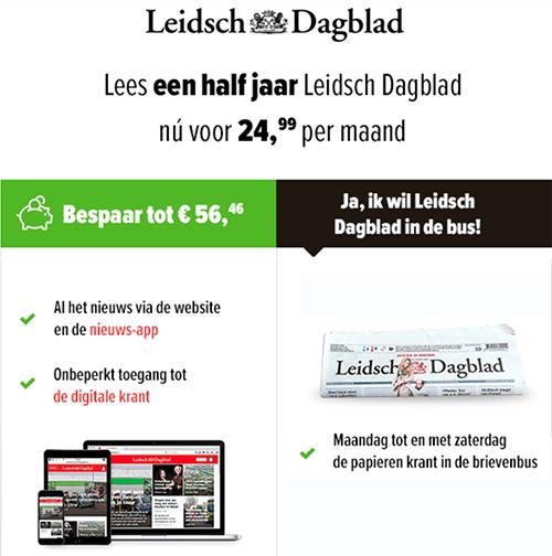 Leidsch Dagblad 12 maanden proberen