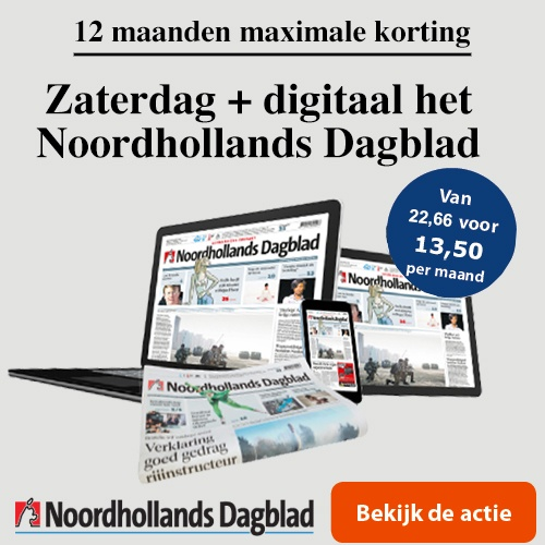 Zaterdagabonnement Noordhollands dagblad